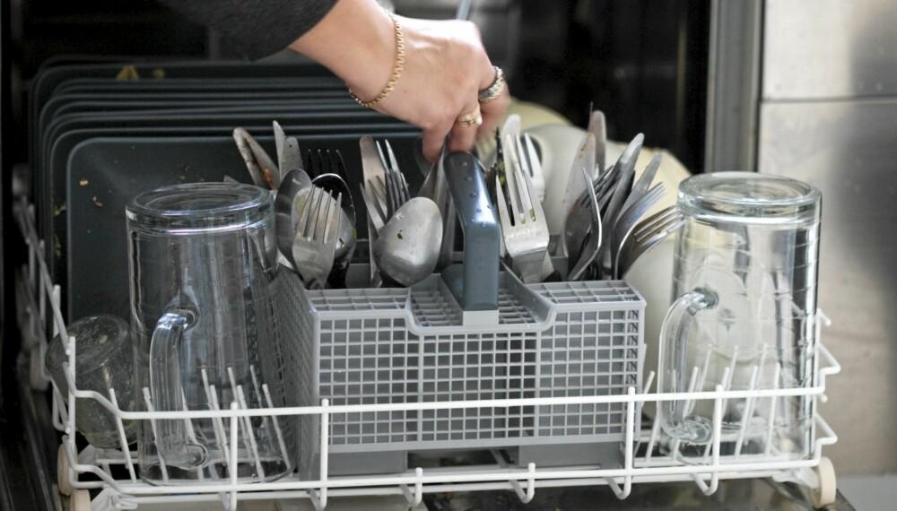 BAKTERIEKILDE: Utstyr fra oppvaskmaskin som ikke er vasket på høyere enn 65 grader, er smittekilder når sykdom går.