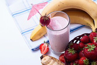 SUNT OG GODT: Smoothie bidrar med søtsmak, men også masse god næring.
