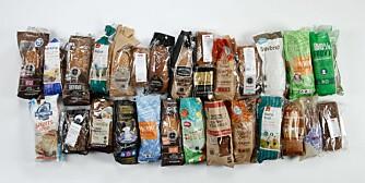 TEST AV GROVBRØD: Vi har testet 31 grovbrød. To brød får terningkast 6. FOTO: Petter Berg