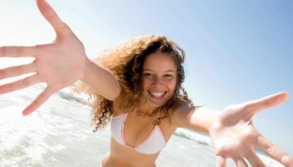 LYKKE: Lykkelige mennesker spiser generelt sunnere og er mer aktive enn de som er ulykkelige.