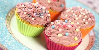 Jordbærcupcakes