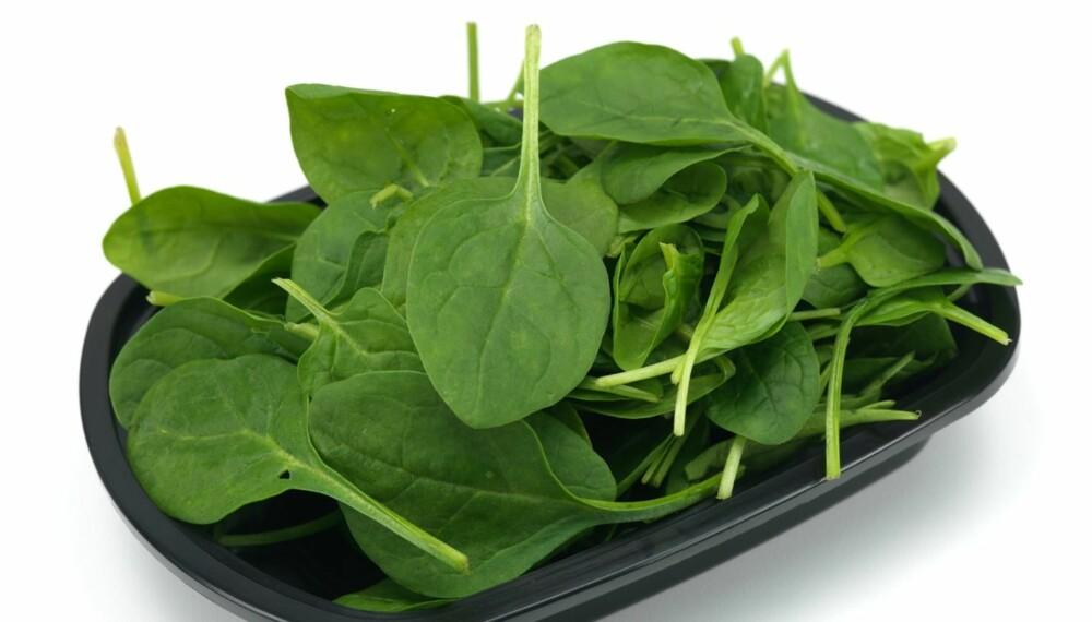 MUSKELBYGGER: Innholdet av nitrat i spinat og enkelte andre grønnsaker bidrar til å styrke muskulaturen.