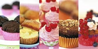 LITT SUNNERE: Her er oppskriftene på cupcakes som er litt sunnere.