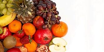 FRUKT: 300 gram frukt om dagen gir energi, vitaminer og antioksidanter.