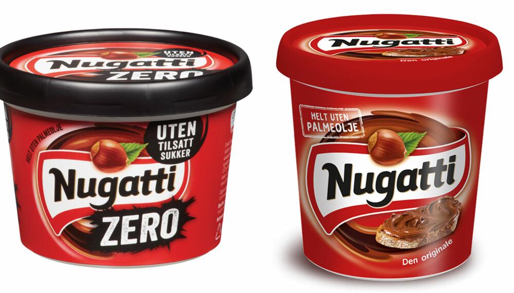 NY NUGATTI UTEN SUKKER: Nå får du Nugatti uten sukker. Men er den sunnere? FOTO: Orkla Foods/Nugatti