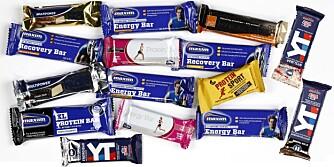ENERGIBARER: Bedre Helse og Klikk Helse har testet 15 barer for trening - energibarer eller sportsbarer.