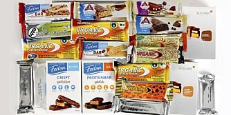TEST: DinKost.no har sjekket næringsinnholdet i 19 slankebarer du kan spise som mellommåltid eller snacks, i stedet for sjokolade, søt yoghurt, muffins og lignende.