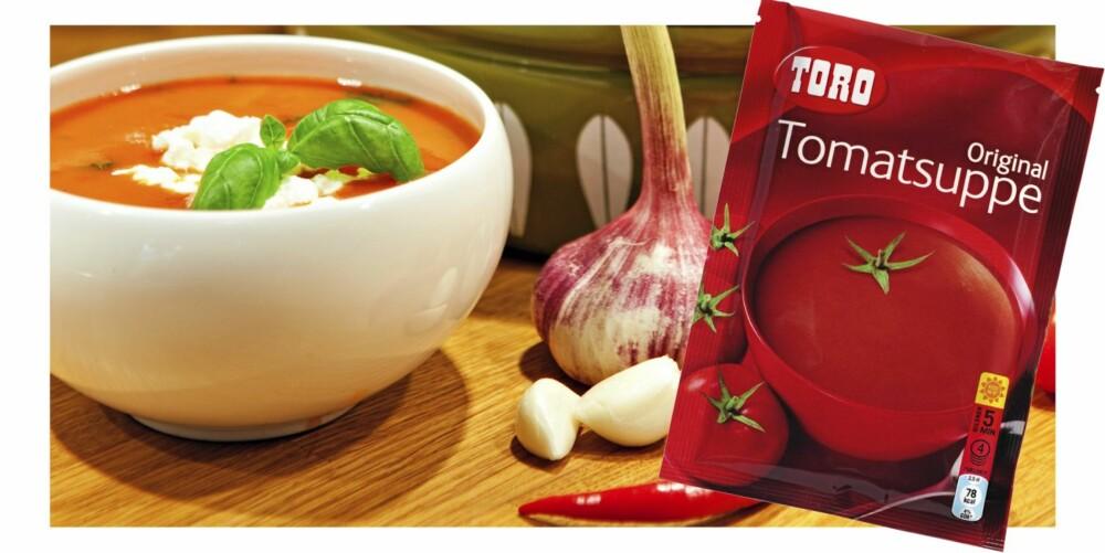 TOMATSUPPE: Suppen blir enda sunnere hvis du fyller på med ekstra tomater.