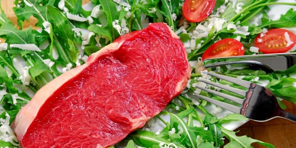 JERNE DET: Slunkne jernlagre kan være grunnen til at du er slapp. Rødt kjøtt kan være redningen.