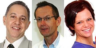 EKSPERTENE: Lege Fedon Lindberg, lege Jøran Hjelmesæth og ernæringsfysiolog Therese F. Mathisen.