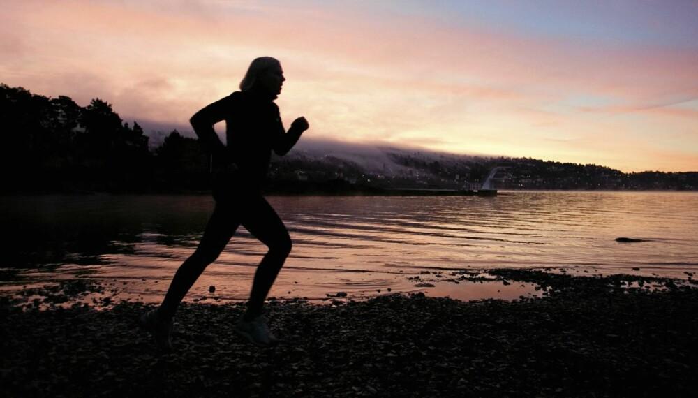 GODFØLELSE: Når Siv Eklo (39) legger ut på joggetur, får hun med seg soloppgangen.