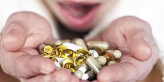 VITAMINTILSKUDD: Du trenger ikke vitaminpiller med et normalt kosthold.