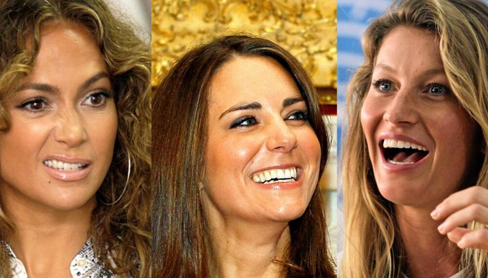 FØLGER DIETTEN: Jennifer Lopez, Kate Middleton og modellen Gisele Bündchen skal angivelig sverge til Dukans slankemetode.