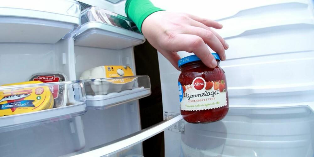 JORDBÆRSYLTETØY: Fordi det er fettfritt og dermed ganske kalorifattig sammenliknet med andre pålegg, har jordbærsyltetøy vært sett på som et relativt sunt pålegg.