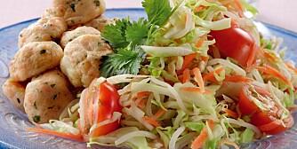 FISK: Hva med å prøve hjemmelagede fiskeboller til middag?