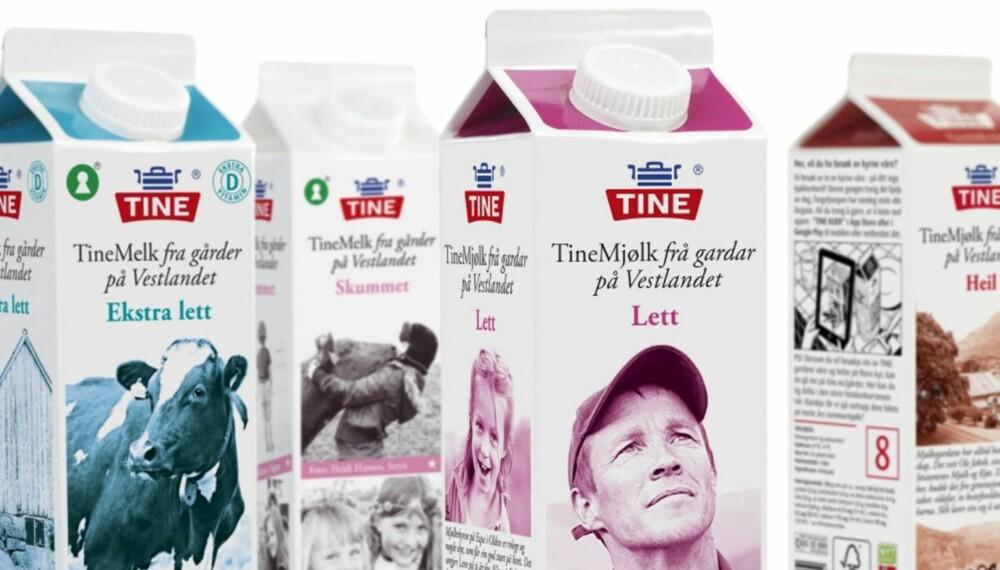 LETTERE: Nylig ble fettprosenten i Tines H-melk redusert fra 3,9 prosent til 3,5 prosent. Samtidig er fettinnholdet til Tines lettmelk redusert fra 1,5 til 1,2 prosent.