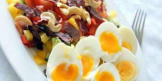 SUNN FROKOST: Om du starter dagen med en grov og fargerik frokost vil du gi kroppen komplekse karbohydrater, protein, fett og vitaminer og mineraler.