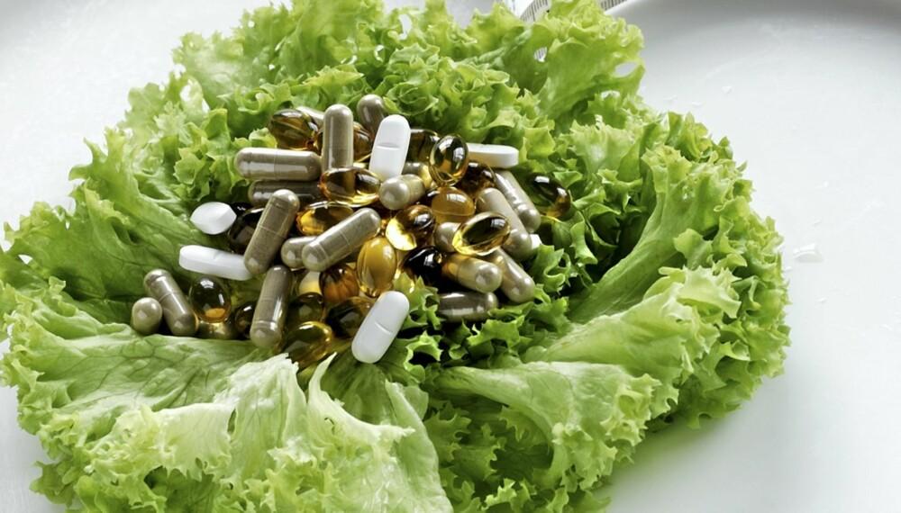 VITAMINTILSKUDD: Du trenger ikke vitaminpiller hvis du har et normalt kosthold.