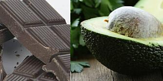 VISSTE DU AT...: Avokado kan gjøre huden myk og smidig, og at mørk sjokolade inneholder antioksidanter som er bra for huden? ILLUSTRASJONSFOTO: Colourbox
