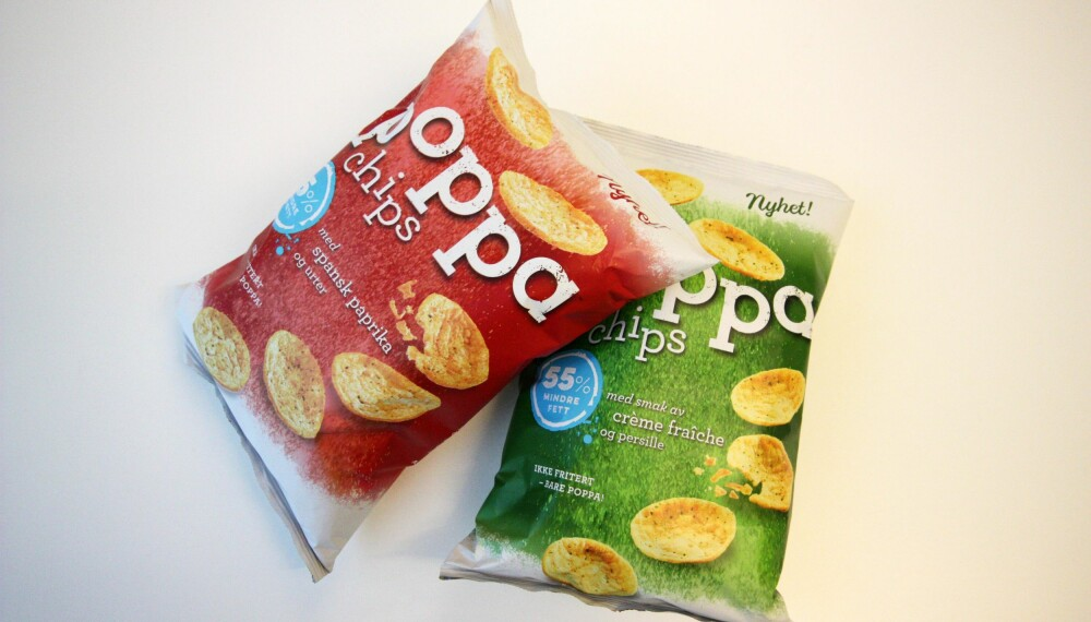 SUNNERE POTETGULL?: Vi har gått nærmere inn på næringsinnholdet til nyheten Poppa Chips fra Sørlandschips. FOTO: Jenny Mina Rødahl
