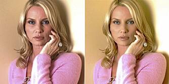 FØR OG ETTER: Nicollette Sheridan ser yngre og freshere ut på det retusjerte bildet til høyre. Det til venstre er det originale.