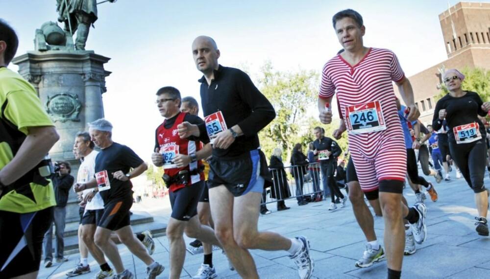 UHØYTIDELIG: Du trenger ikke løpe maraton for å delta i Oslo Maraton. Distansene varierer fra 3 til 42 kilometer. Start og mål er i år på Akershus festning.