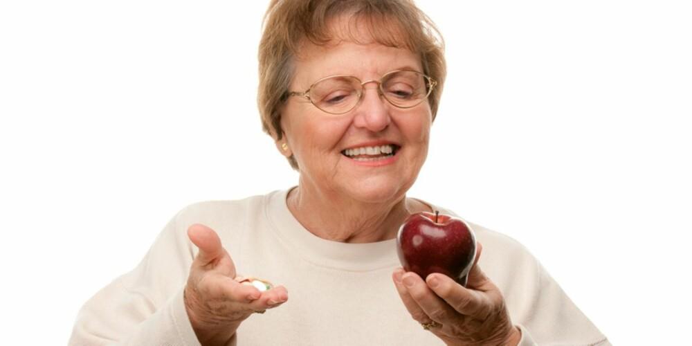 VELG RETT: Frukt og grønnsaker vet vi forebygger kreft, men vi vet ikke om kosttilskudd gjør det samme