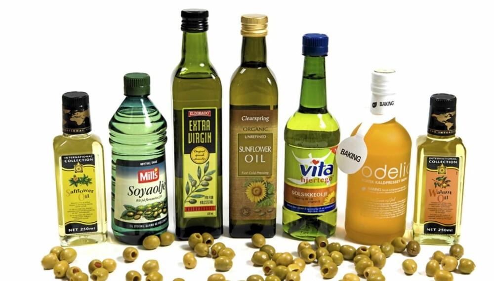 MANGE VALG: Oljer utforskes mer og mer av forbrukerne. Men det er store forskjeller i egenskaper, smak og bruksområder.