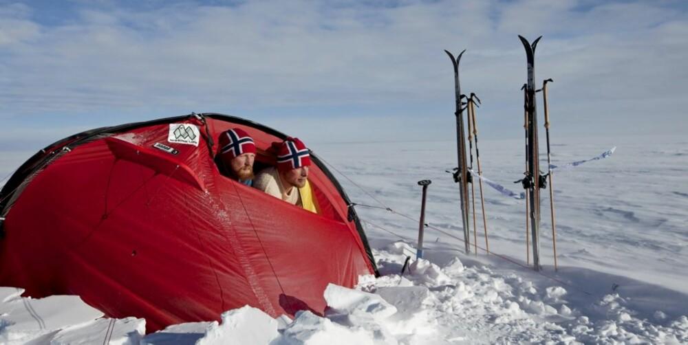 ENERGIKREVENDE: De norske polfarerne fikk i seg like mange kalorier på ett måltid, som de vanligvis får på en hel dag.
