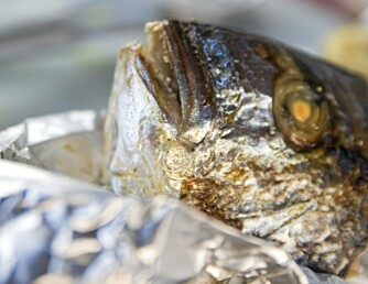GRILLET FISK: Det dannes mindre helseskadelige stoffer når du griller fisk enn kjøtt.