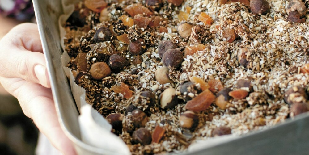 FROKOST: Gyllen müsli gir en god og sunn start på dagen.