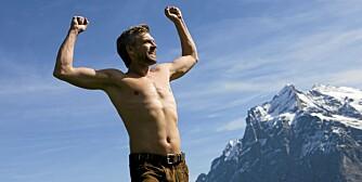 FLINKE MENN: Når menn slanker seg, går de inn for oppgaven med hud og hår. Sammenlignet med kvinner er det mange som klarer å holde vekten nede på sikt.