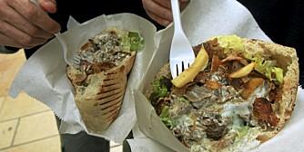 KEBAB: Sausen er oftest svært fet, og gjør gatekjøkkenvarianten av denne retten lite sunn.