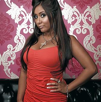 KAKEMONS: Nicole «Snooki» Polizzi er kjent fra MTV-serien «Jersey Shore».