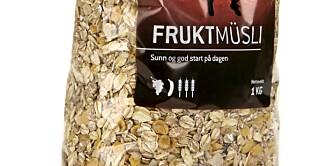 FROKOSTBLANDING: Sunnhetstest av müsli tilsatt smak av bær, frukt, honning eller annet.