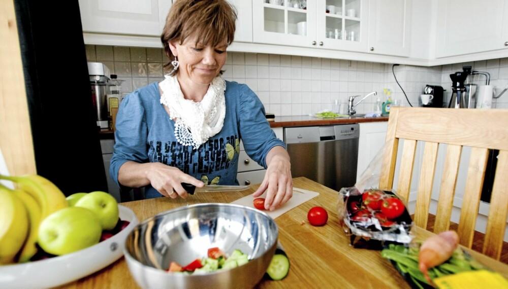 SLANKERE: Gro Håvi gjorde små endringer i kostholdet og begynte å trene. Hun gikk ned 6 kilo.