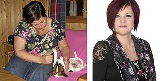 SUPERSLANKER: Christine Finckenhagen (43) hadde lagt på seg gradvis (t.v). I dag er hun 39 kilo lettere (t.h)