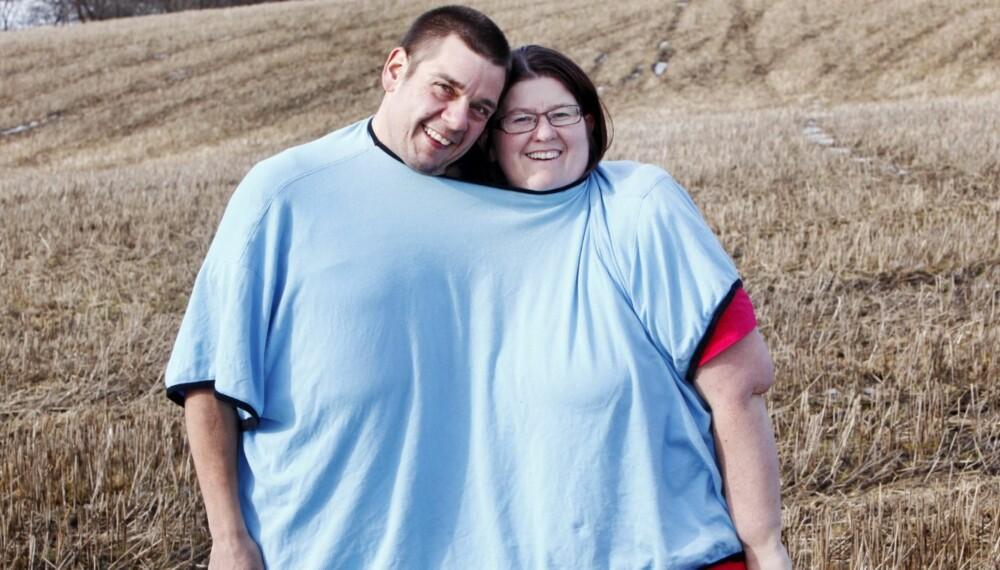 STERKT FORHOLD: Kjærligheten mellom Hilde (37) og Niels (39) Schrøder har holdt, tross tøffe år med vektøkning, slankeforsøk og til slutt operasjoner.