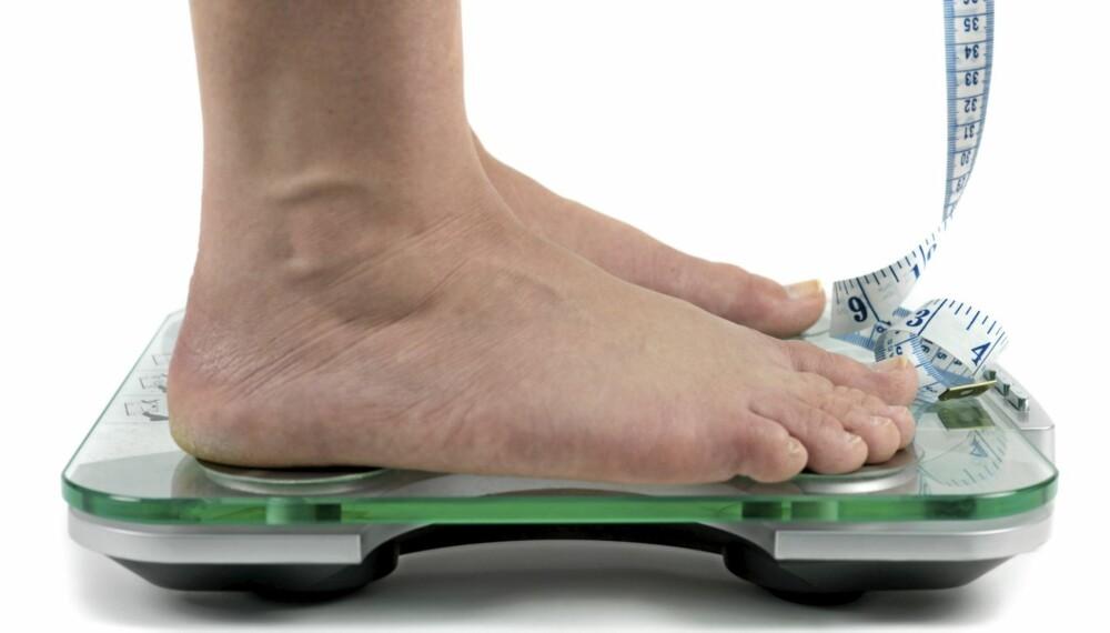 IKKE NØDVENDIG: Dropp å henge deg opp i vekten, det er bra med noen kilo ekstra.