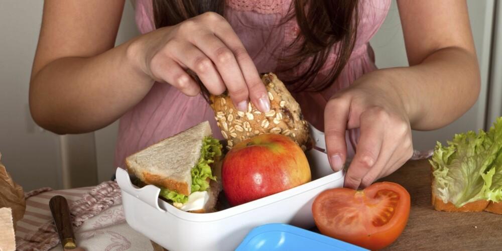 MATPAKKE: Det anbefales å pakke to matpakker, så har du mat som mellommåltid en liten stund før du går fra jobb.