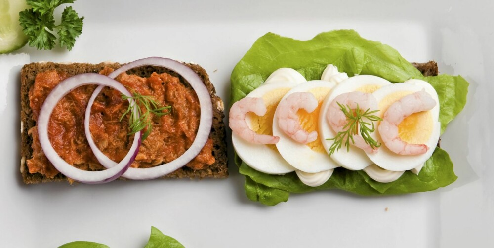 PROTEIN: Egg på brødskiven metter godt.