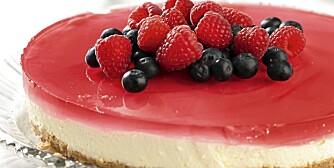 SUNNERE: Denne lekre ostekaken er én av godsakene du finner oppskriften på. Se lenker til alle kakeoppskriftene nederst på siden.