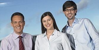 Portrait of three businesspeople smiling