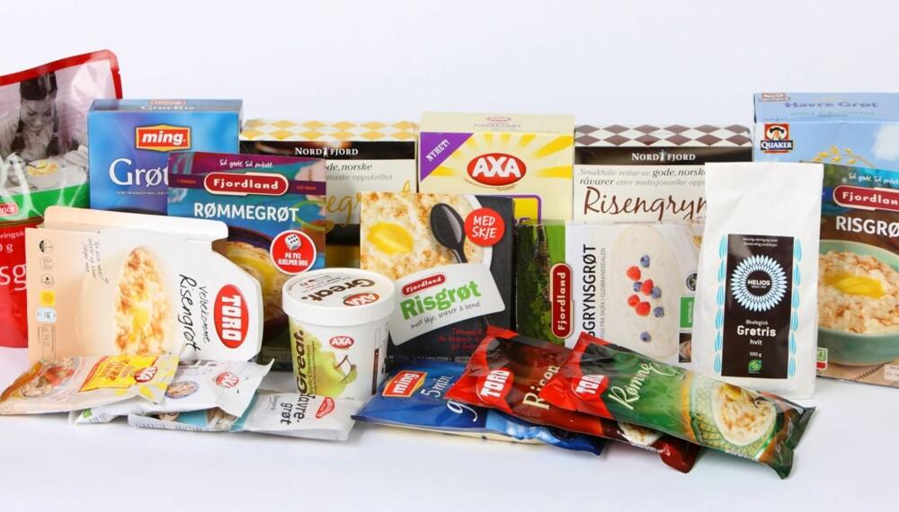 GRØT: Ernæringsfysiolog Gunn Helene Arsky har vurdert næringsinnholdet i 17 typer grøt for DinKost.no. Av de 17 er det 7 grøter som får terningkast fem.