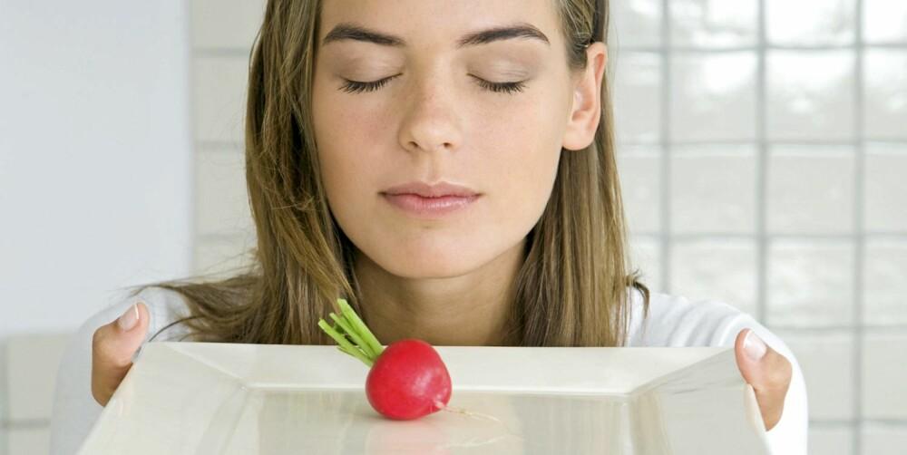 LITE MAT: Det er ikke sunt å spise for lite mat, det ødelegger forbrenningen.