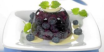 GELÉ: Hva med en lekker blåbærgelé?