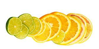 C-VITAMIN: Appelsin, sitron og lime er stappfulle av C-vitamin.