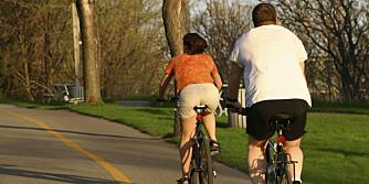 SLANKESYKLING: Det er slett ikke sikkert at det hjelper å bli kvitt overvekten ved å slite seg ut med fysisk aktivitet.