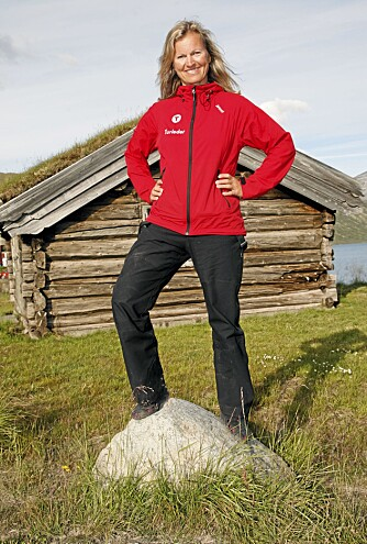 TIL FJELLS: Turistforeningens generalsekretær Kristin Krohn Devold trives naturlig nok best med utendørs trening.