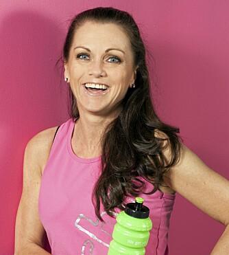 FLITTIG TV-STJERNE: Hilde Lyrån trener fem ganger i uken på Elixia, og kan koste på seg en sunn snack innimellom.